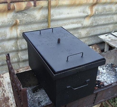 Коптильня горячего копчения из металла своими руками фото 544