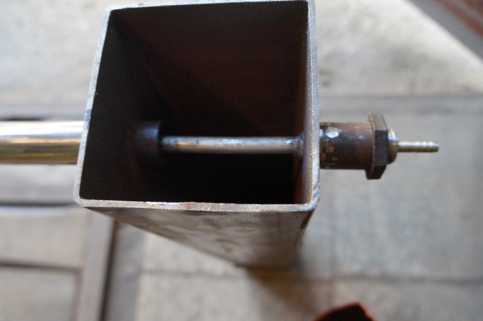 дымогенератор из профильной трубы сечением 10х10 см