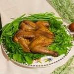 Копчение цыпленка на костре