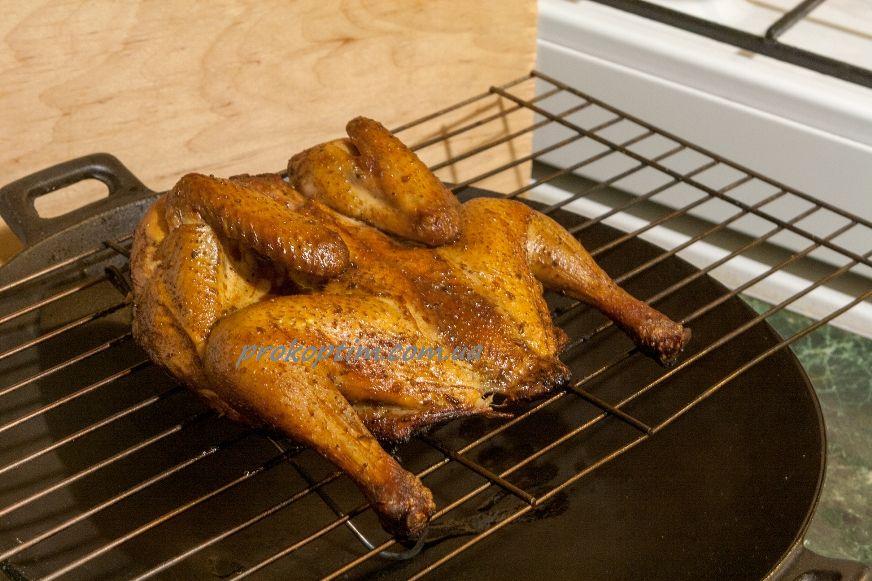 Копчення курчати займе 45 хвилин