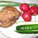 Куриные бедра и грудка с крылышками горячего копчения