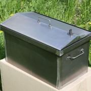 Коптильня домиком с гидрозатвором 2-х ярусная 520х300х310