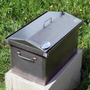 Коптильня домиком с термометром 2-х ярусная 520х300х310