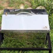 Коптильня из нержавейки 400х300х310 крышка домиком без термометра