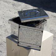 мини коптильня из нержавеющей стали